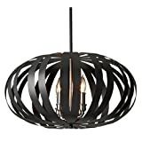Murray Feiss F2738/4TXB Woodstock 4 Light Chandelier, Textured Black
