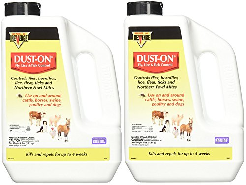 Bonide (2 Pack) Fly, Lice and Tick Control Dust-On, 4 lb (Best Chickens For Tick Control)