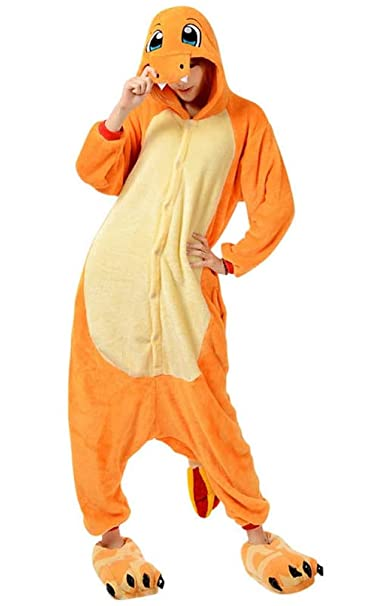 Pokemon Charmander Adult Animal Pajamas Pikachu Onese`Kids·Costume Pyjamas..`