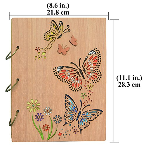 PETAFLOP 5x7 Photo Album Book Butterfly Themed Photo Albums 120 Pockets 3 Ring Binder by PETAFLOP (Image #3)