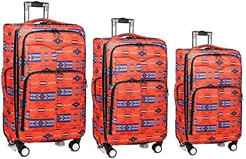 Southwest Design Navajo Print 3pc Luggage Set DEN