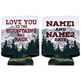 Customized Wedding Can Cooler- Love You To The Mountains And Back (150)