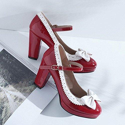 Tacon Clasico Zanpa Mujer Zapatos Red wqBW5Evg