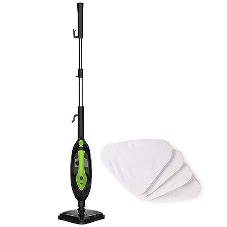 SKG 1500W Steam Mop Floor Steamer Carpet Steam Cleaner Multifunctional Cleaning Machine, Black