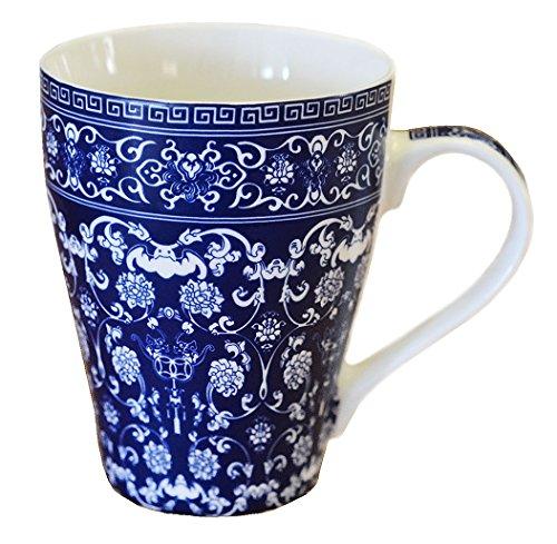 China Porcelain Mug (Blue And White Porcelain Coffee Mug Tea Cup - China Mug Gift)
