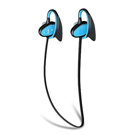 LEDMOMO Auriculares deportivos inalámbricos, IPX8 Auriculares deportivos impermeables Aislamiento de ruido Auriculares estéreo Bluetooth Natación