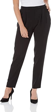Womens Smart Evening Day Easy Fit Full Elasticated Waist Trousers White NEW 8-22