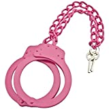 PAN001 Tactical Gear, Pink Security Issue Leg Cuffs Forged From Solid Steel HANDCUFFS
