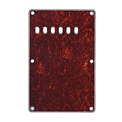 ammoon Pickguard Back Plate Tremolo Cavity Cover Vintage Style Backplate for Fender Stratocaster Strat ST Standard Modern Style Electric Guitar 4Ply from ammoon