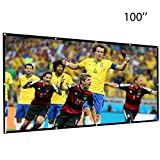 Leegoal 100 inch Projection Screen 16:9 HD Foldable Anti-crease Portable Projector Movies Screen for Indoor Outdoor Home Theater Cinema Movie Travel