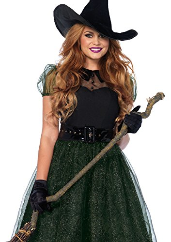 Darling Womens Costumes (Leg Avenue Women's Darling Spellcaster Costume, Black, X-Large)