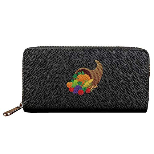 Long Fashion Purse Fresh Fruits And Vegetables Party PU Wallets Cit Card Clutch Huge Storage Capacity -