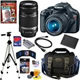 Canon EOS Rebel T3 12.2 MP CMOS Digital SLR Camera with EF-S 18-55mm f/3.5-5.6 IS II Zoom Lens and EF-S 55-250mm f/4.0-5.6 IS Telephoto Zoom Lens + 16GB Deluxe Accessory Kit, Best Gadgets
