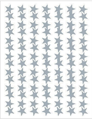 (Teacher Created Resources Silver Stars Foil Stickers (1277))