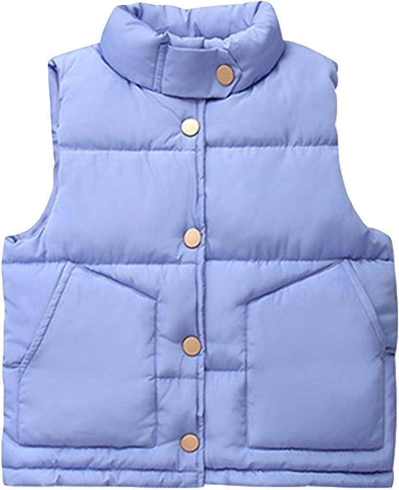 AMIYAN Baby Jungen M/ädchen /Ärmellos Weste Herbst Winter Weste Mantel Winterjacke ohne /Ärmel Dicke Outerwear 2-8 Jahre