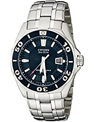 Citizen Mens BL1258-53L The Signature Collection Blue Dial Stainless Steel Watch