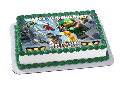 LEGO NINJAGO Personalized Cake Toppers Icing Sugar Paper A4 Sheet Edible Frosting Photo Birthday Topper 1 4 Best Quality Image