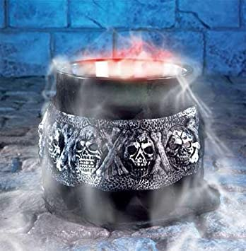 large halloween party prop smoking cauldron