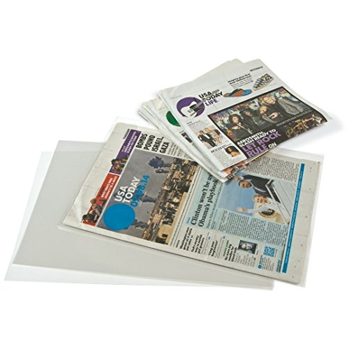 Gaylord Archival 3 mil Archival Polyester Newspaper Preservation Sleeves (Archival Polyester Sheet Protectors)