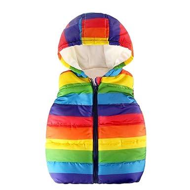 UK Baby Kids Boy Girl Winter Warm Vest Coat Cool Jacket Waistcoat Outerwear 1-6Y