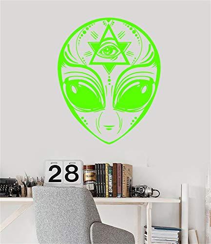 Lettering Words Wall Mural DIY Removable Sticker Decoration UFO Alien Head Masonic Symbol Eye of Providence