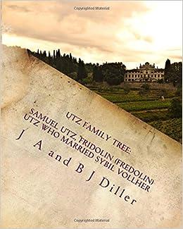 Book Utz Family Tree: Samuel Utz, Fridolin (Fredolin) Utz who married a Sybil Vollher