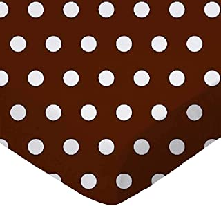 product image for SheetWorld Fitted 100% Cotton Percale Play Yard Sheet Fits BabyBjorn Travel Crib Light 24 x 42, Polka Dots Brown, Made in USA