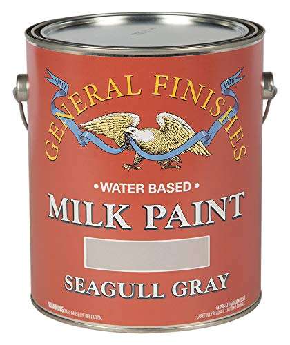 Gray Gallon - General Finishes GSG Water Based Milk Paint, 1 Gallon, Seagull Gray