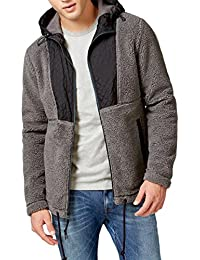 Womens Quilted Hooded Fleece Jacket