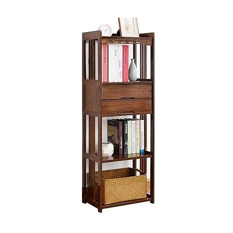 Amazon.com: Estantería de madera maciza creativa con cajón ...