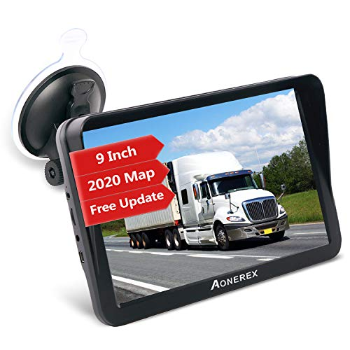 Sat Nav, Aonerex 9 Inch GPS Navigation System Pre-Installed Newest UK Europe Maps with Lifetime Free Map Updates for Car…