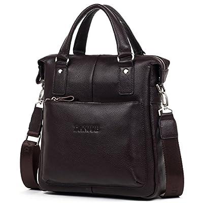 delicate DANJUE Luxury Leather Men s Briefcase Messenger Bags Shoulder  Handbags Satchels Ipad Tote Top Handle Cross 83591f744f2