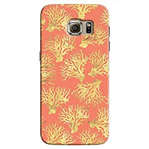 Cover It Up - Red Gold Nature Print Galaxy S7 Edge Hard Case