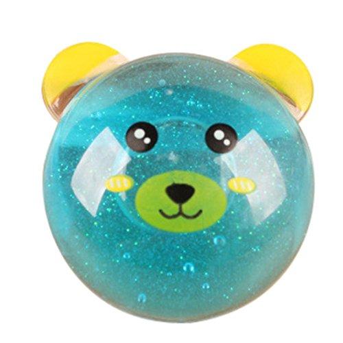 SANNYSIS Clay Slime DIY Crystal Mud Play Transparent Magic Plasticine Kid Toys 6.2×2.3cm (Sky Blue)