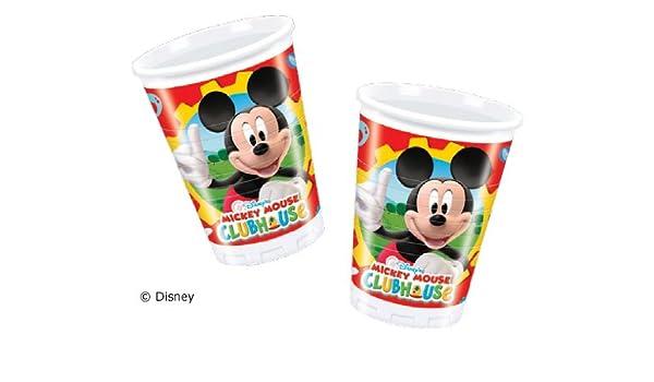 10 vasos * Mickey Mouse * para fiestas y cumpleaños ...