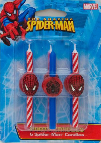 DecoPac 11745 Spider-Man Candles - 6 / BX (Original Version) -