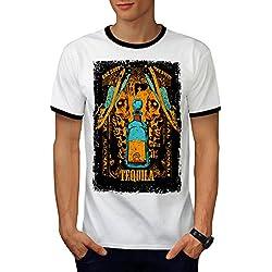 Tequila Traditional One Shot Men L Ringer T-shirt | Wellcoda