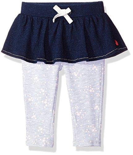 (Levi's Baby Girls' Super Skinny Fit Pull On Leggings, Indigo Night w/Skirt 3/6M)