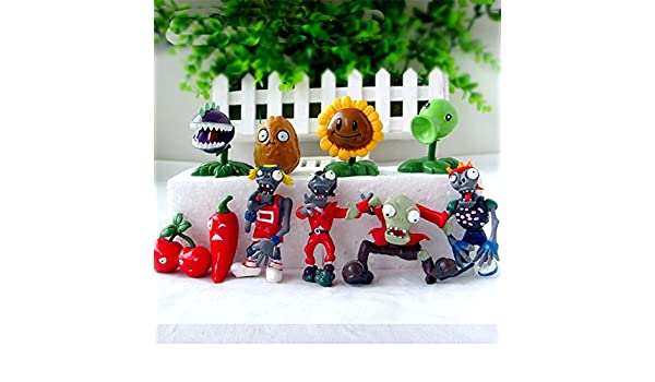 Amazon.com: 10pcs/set Plants VS Zombies PV Z Collection Figures plant zombies figure Toys: Toys & Games