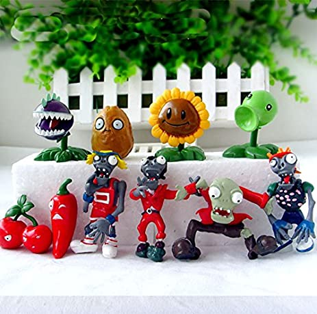 10pcs/set Plants VS Zombies PV Z Collection Figures plant zombies figure Toys