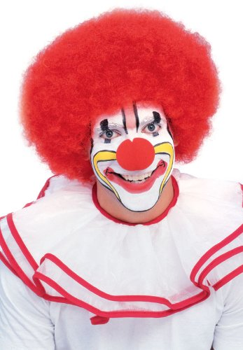 Rubie's Costume Deluxe Clown Wig, Red, One Size (Fancy Dress Red Wig)