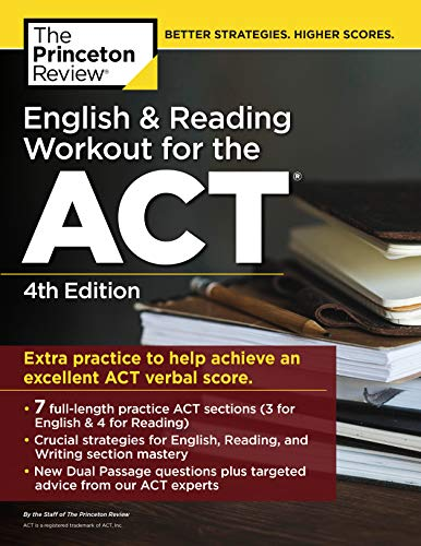 Pdf Teen English and Reading Workout for the ACT, 4th Edition: Extra Practice for an Excellent Score (College Test Preparation)