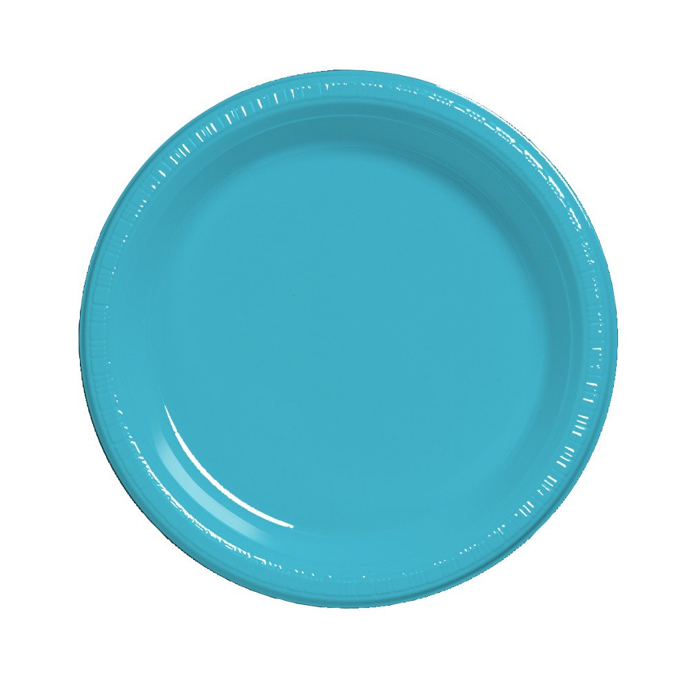 Creative Converting Touch of Color 20 Count Plastic Lunch Plates, Bermuda Blue