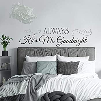RoomMates Always Kiss Me Goodnight Quote Peel and Stick Wall Decals , 10 inchx 18 inch - RMK2084SCS