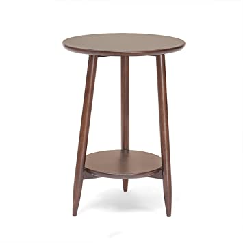 Amazoncom Nubao Solid Wood Small Coffee Table Simple Round Side