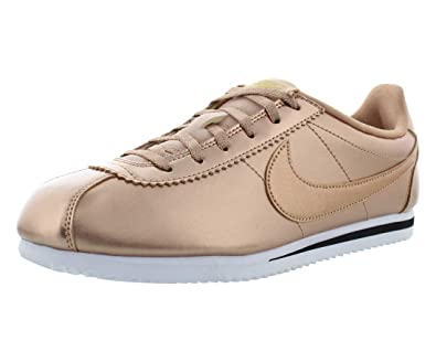 official photos fb01f c2333 NIKE Cortez SE (GS) 859569-901 Metallic Red Bronze Leather Kids s Girls  Shoes