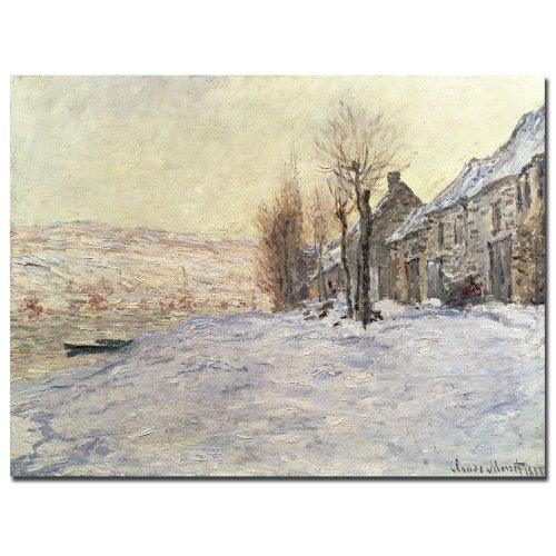 (Lavacourt Under Snow 1878-81 by Claude Monet, 14x19-Inch Canvas Wall Art)