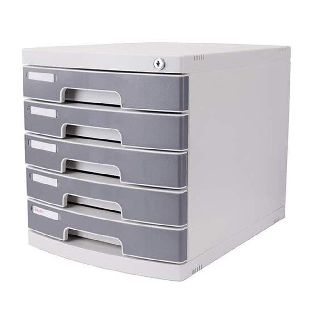 NUOCHEN Desktop Drawer Organizer 5 Drawer Office Filing Document Cabinet with Lock Desktop File Folder Storage Shelf Document Organizer Tray Office Cabinet by NUOCHEN