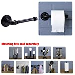 Rustic Industrial Pipe Toilet Paper Holder by Pipe Decor, Heavy Duty DIY Style, Wall Mounted Kit, Modern Chic Electroplated Black Iron Finish, Commercial Grade Metal, Slide TP Roller, Oil + Rust Free 10