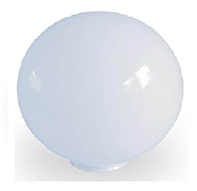 """4/"""" NECK FITTER BRAND NEW 8/"""" WHITE PLASTIC GLOBE LIGHT SHADE POLYPROPYLENE"""